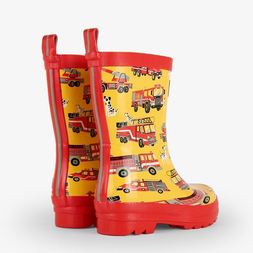 fire truck wellies
