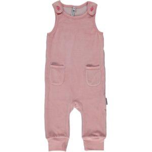 Maxomorra Pink Velour Pocket Playsuit