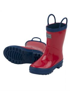 Hatley Red and Navy Classic Rainboots
