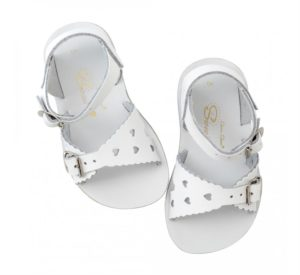 Salt Water White Sweetheart Sandals