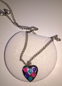 Necklace in Princess Velour Crown Box – Heart Pendant