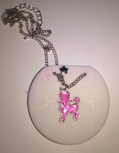 Necklace in Princess Velour Crown Box – Pink Poodle Pendant