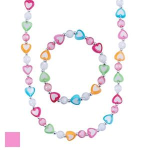 Pink Poppy Pretty Sweetheart Necklace and Bracelet Set