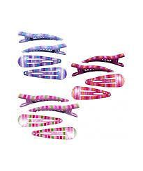 Pink Poppy Colourful Strip Hairclips