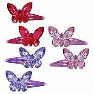 Pink Poppy 3D Butterfly Hairclip