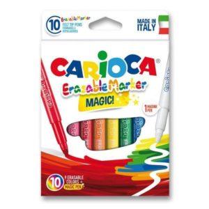 Carioca Magic Erasable Marker Pack of 10 Felt Tip Pens