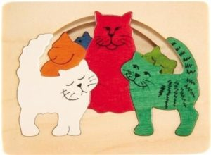 Hape George Luck Cats Puzzle