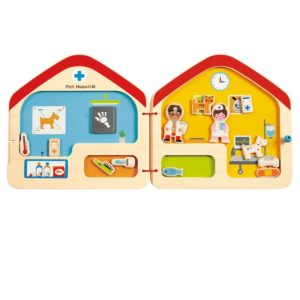 Hape Visit the Vet Magnetic Book