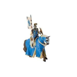 Bullyland Tournament Knight and Blue Horse