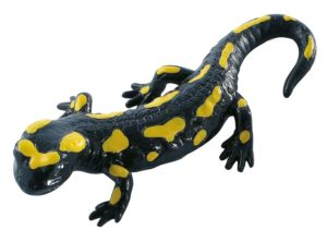Bullyland Black Salamander with yellow spots