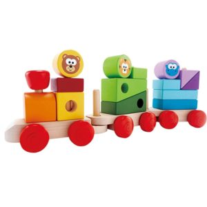 J'adore Wooden Zoo Animals Stacking Train