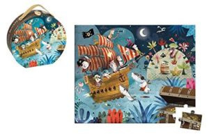 Janod Hat Boxed 36 Piece Treasure Hunt Puzzle