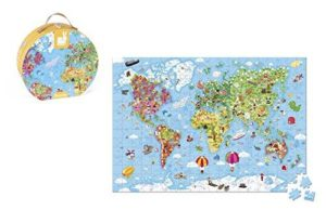 Janod Hat Boxed 300 Piece Jigsaw of the World