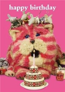 Hype Bagpuss 'Happy Birthday' Cake Card
