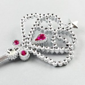 Floss & Rock Silver Wand with Pink Jewels