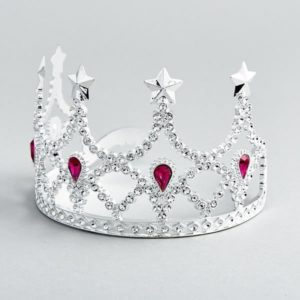 Floss & Rock Silver Crown with Pink Jewels