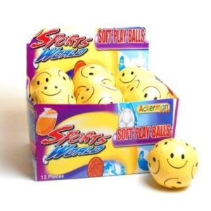 Ackerman's Yellow Smiley Face Soft Ball