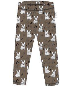 Maxomorra Brown Rabbit Print Leggings