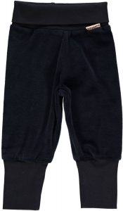 Maxomorra Dark Blue Velour Baby Rib Pants