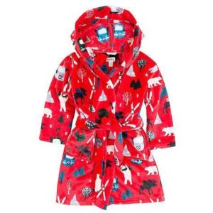 Hatley Vintage Ski Fleece Robe Dressing Gown
