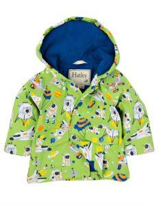 Hatley Apple Green Astronauts Waterproof Raincoat