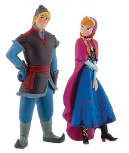 Bullyland Disney Frozen Figure Anna and Kristoff Set Cake Topper Play Figurine