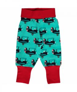 Maxomorra Blue Planes Rib pants