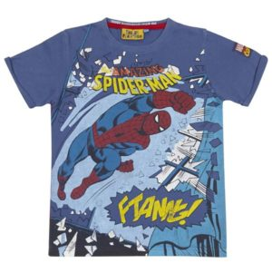 Fabric Flavours Spider Man 'Smash' Blue T Shirt