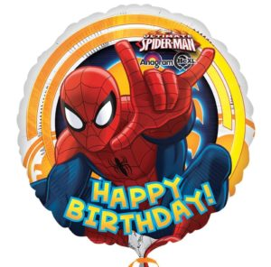 Spiderman Happy Birthday Foil Helium Balloon **SOLD FLAT**