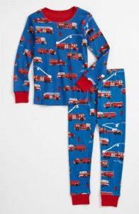 Hatley Blue Fire Trucks Organic Cotton Pyjamas