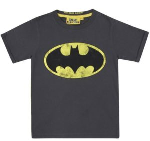 Fabric Flavours Batman Logo Vintage Black T Shirt