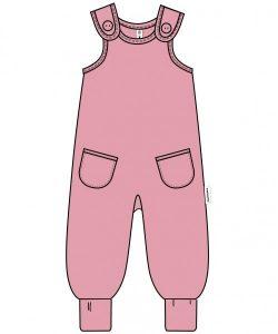 Maxomorra Pocket Pink Velour Playsuit