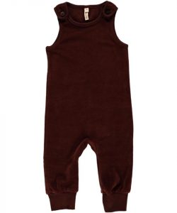 Maxomorra Brown Velour Playsuit Dungarees