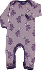 Smafolk Lavender Ponies and Balloons Sleepsuit
