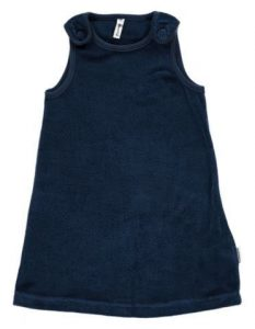 NEW Maxomorra Basic Dark Blue Velour Pinafore Dress