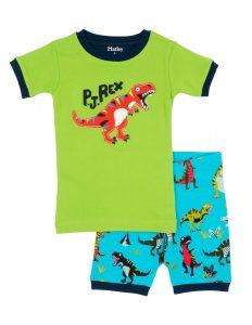 'NEW Hatley Roaring T-Rex Applique Short Pyjama Set PJ Organic Cotton Summer'