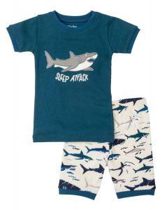 Hatley Blue Toothy Sharks Short Pyjamas