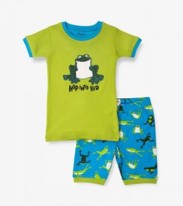 Hatley Green Hopping Frogs Short Pyjamas'