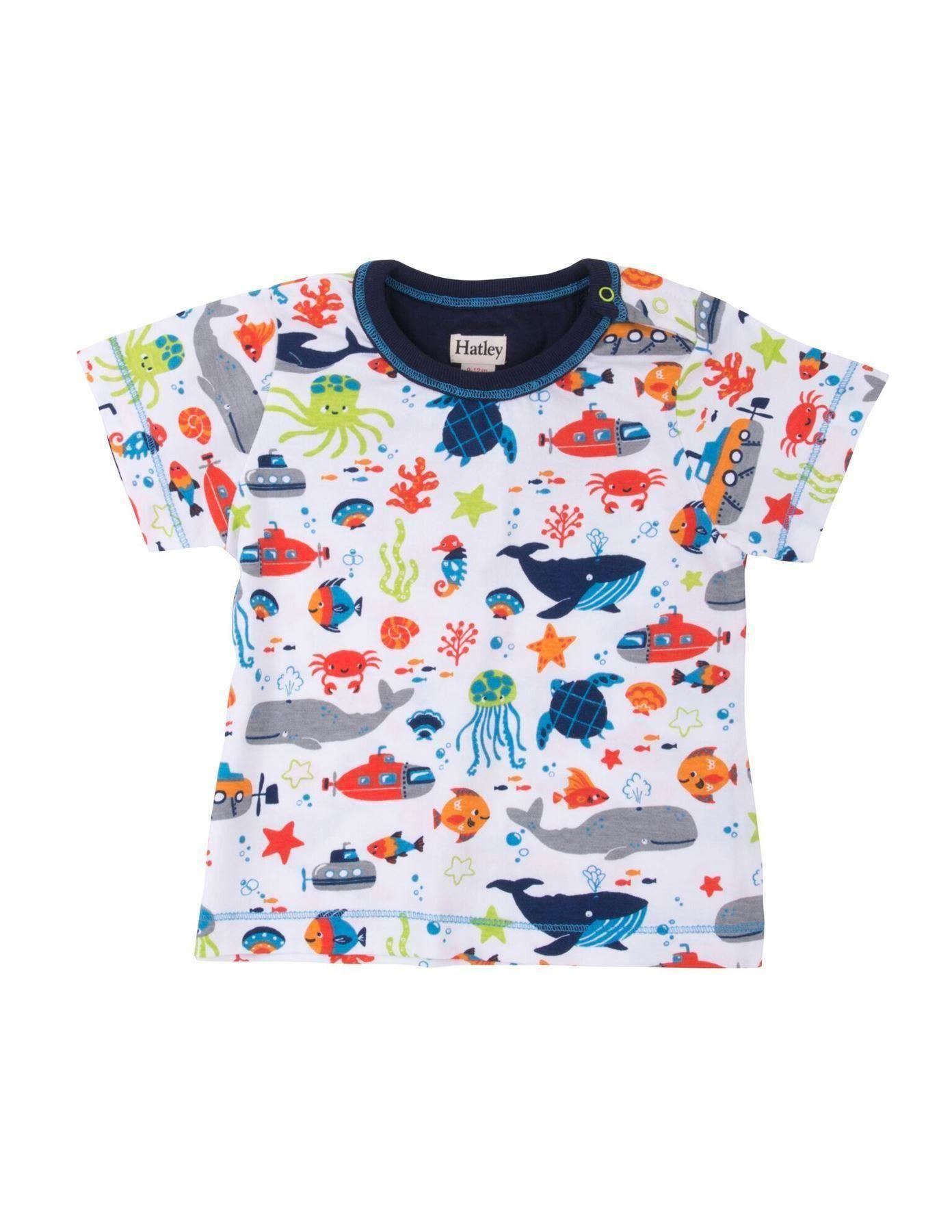 Hatley ocean animals baby graphic tee shirt catfish kids for Graphic t shirts for kids