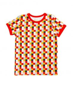 Lily-Balou Multi Colour Blocks  Print Leo T Shirt