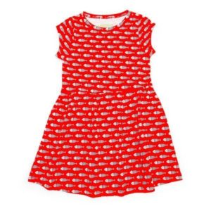 Lily-Balou Red Fish Print  Hannah Dress
