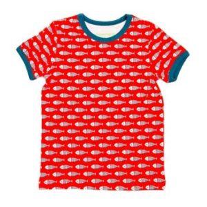 Lily-Balou Red Fish  Print Leo T Shirt