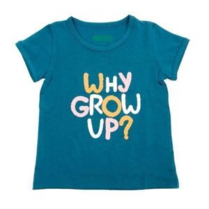 Lily-Balou Petrol Why Grow Up? Rosaline T Shirt