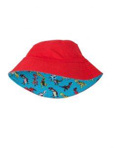 Hatley Reversible Turquoise Roaring T Rex SPF 50 Sun Hat