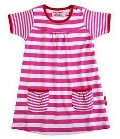 'Gorgeous Toby Tiger Organic Cotton Jersey Pink Stripe Dress'