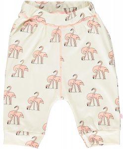 Smafolk Cream Flamingo  3/4 Length Jersey Pants