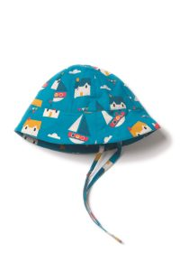 NEW Little Green Radicals Sail Away Sunhat with Ties Organic Cotton BNWT