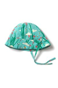 NEW Little Green Radicals Cornish Copper Sunhat with Ties Organic Cotton BNWT