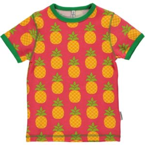Maxomorra Coral Pineapple  Short Sleeve Top