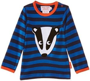 Toby Tiger Badger Applique Long Sleeve Top